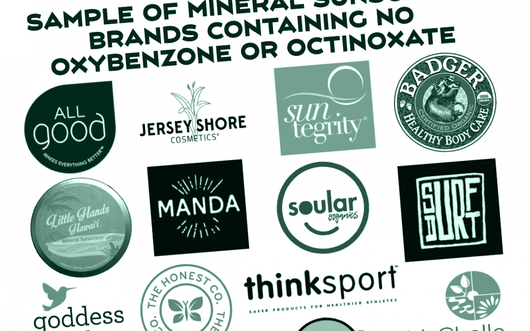 Oxybenzone and Octinoxate-Free Mineral Sunscreen Brands